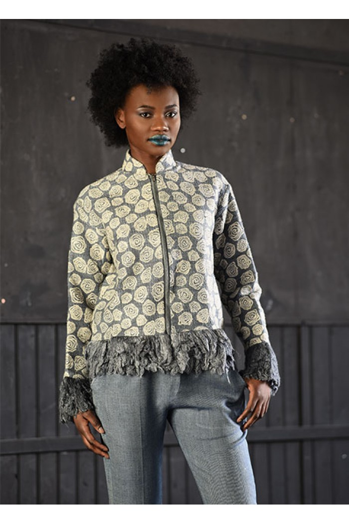 Sustainable Silk Bomber Jacket 1